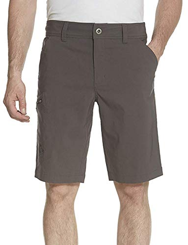 Gerry Mens Stretch River Woven Hiking Shorts Slate 32