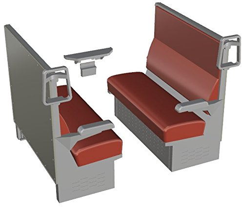 1/12 train accessories series EK-12 box seat red plastic for sale  Delivered anywhere in USA