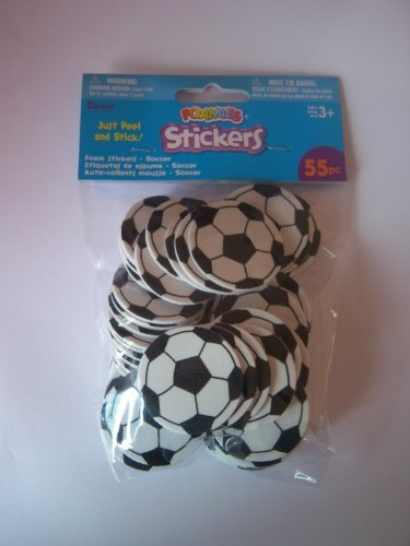 55 Foam Soccer Ball Shapes - Self Adhesive