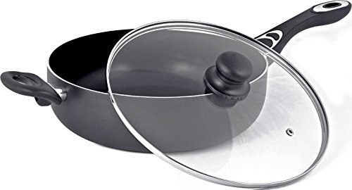 Utopia Kitchen Aluminum Nonstick 11 Inches Jumbo Cooker - Sauté Pan - Deep Frying Pan with Glass Lid - 4.6 Quart - Dishwasher Safe by Utopia Kitchen (Image #2)