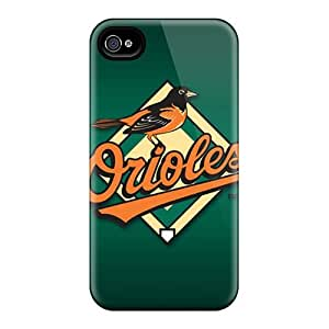 RichardBingley Iphone 4/4s Durable Hard Phone Covers Customized High-definition Baltimore Orioles Skin [FIj15973GiRp]