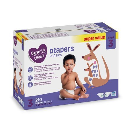Branded Parents Choice Diapers, Size 3, 210 Diapers , - Branded Diapers with fast