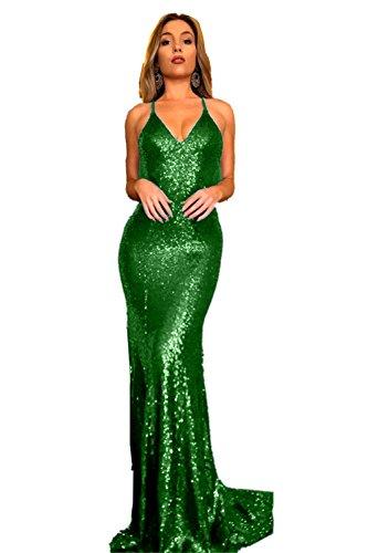 Promworld Damen Cocktail Kleid Smaragdgrün benhe - also ...
