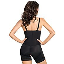 Leonisa Women's Strapless Compression Bodysuit Slimming Shaper Short with Booty Lifter