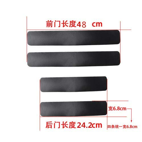 Longzhimei Car Door Sill Protector for Mazda mazda3 CX-3 MX-5 CX-5 mazda6 CX-9 Door Entry Guard Welcome Pedal Threshold 4D Carbon Fiber Stickers Anti-Scratch