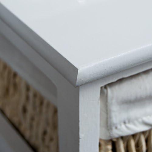 Home Vida Maize Storage Unit White, 4 Drawer
