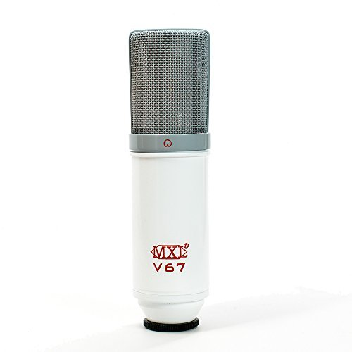 Condenser Mic Capsule (MXL V67G Custom Large Capsule Condenser Vocal Microphone (Red, White, and Grey))