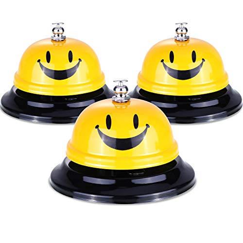 - Leinuosen 3 Pieces Call Bell Customer Service Bell for Classroom Office Reception Restaurant Using, 3.3 Inches Diameter