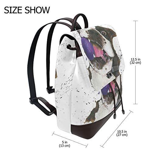 Boxershorts med boll ryggsäck handväska mode PU-läder ryggsäck ledig ryggsäck för kvinnor