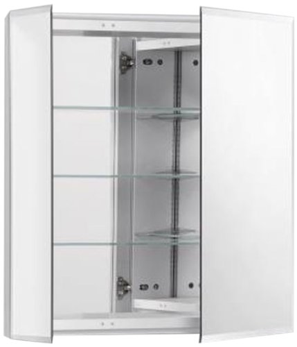 (Robern CB-RC2426D4FB2 R3-Series 2-Door Bevel Mirror Medicine Cabinet)