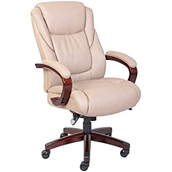 La Z Boy Miramar Executive Bonded Leather Office Chair   Taupe