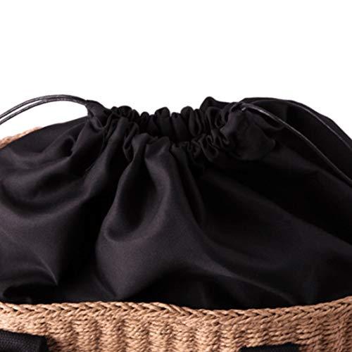 Brown Verano De Brown Bolso Hombro Magai Mujer Para Clásico color Paja Playa vO5F0