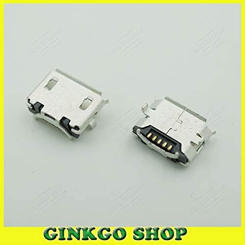Gimax 100pcs//lot micro usb tail sockect for Lenovo A60 A366T Skylight Slate A1-07 A520 A288T A500 A750 5P V8 Port