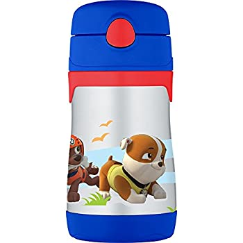 bb253804f5 Thermos Vacuum Insulated Stainless Steel 10-Ounce Straw Bottle, Paw Patrol
