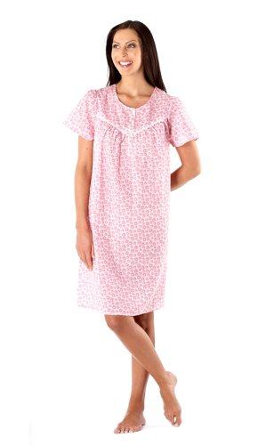 Short Sleeve Cotton Nightshirt Nightdress by Lady Selena