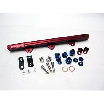 OBX High Flow Fuel Rail 90-93 Mazda Miata 1.6L Red NEW