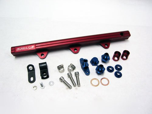OBX Red Fuel Injection Rail for 94-97 Mazda Miata 1.8L BP-ZE (for Oversized (Mazda Miata Fuel Injection)