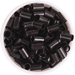YESURPRISE 1000pcs Copper Micro Link Tubes Rings 3.5mm Beads Lined for I Tip Hair Extension Dark Brown