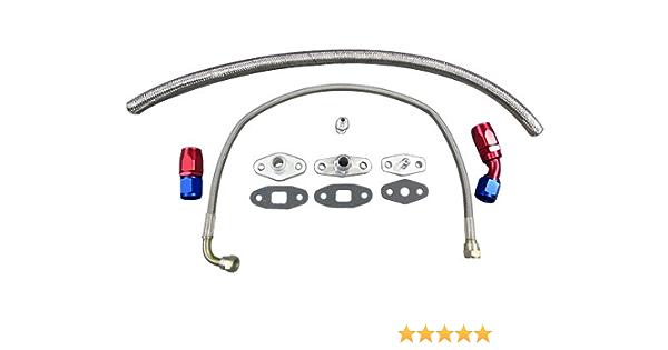 "3//4/"" Barb Aluminum Oil Drain Return Flange Kit Toyota Supra 7M-GTE Single Turbo"