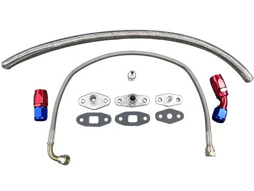 Supra Toyota Single (Oil Line Flange Fitting Kit For Toyota Supra 7MGTE Single Turbo 8PCS)