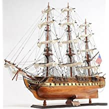 """Uss Constitution Old Ironsides Wooden Tall Ship Model 38"""" Sailboat Built Boat"""