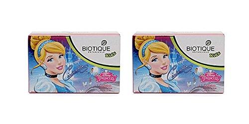 (Pack of 2 - Biotique Cindrella Disney Princess Almond Nourishing Soap for Kids - 75g)