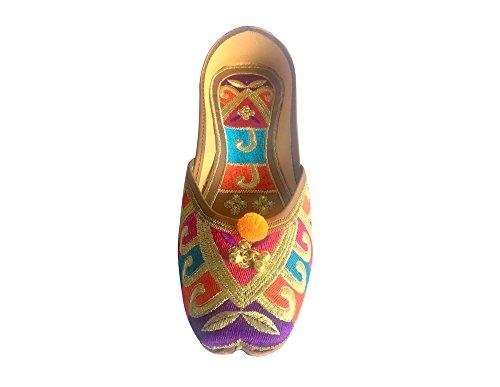 JOOTI KHUSSA n SHOES Multi Style PUNJABI WEAR SHOES JUTTI PARTY INDIAN SAREE Step BALLET PwYTdw