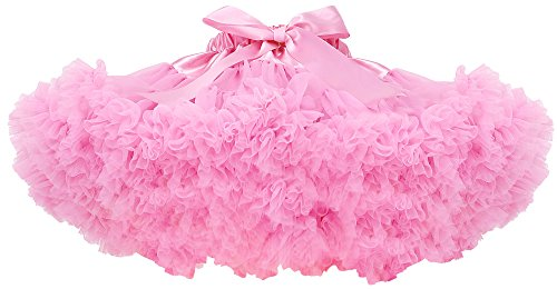 [Simplicity Toddler Girl's Retro Fairy Princess Dance Party Tutu Skirt,Lt.Pink,M] (Kids Tutu)