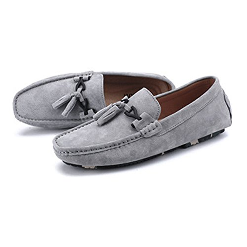 Color Mocassini vera shoes decor Dimensione Mocassini in uomo da con EU pelle nappa penny Grigio Xiaojuan da guida Cachi 40 q6w4Rnzz