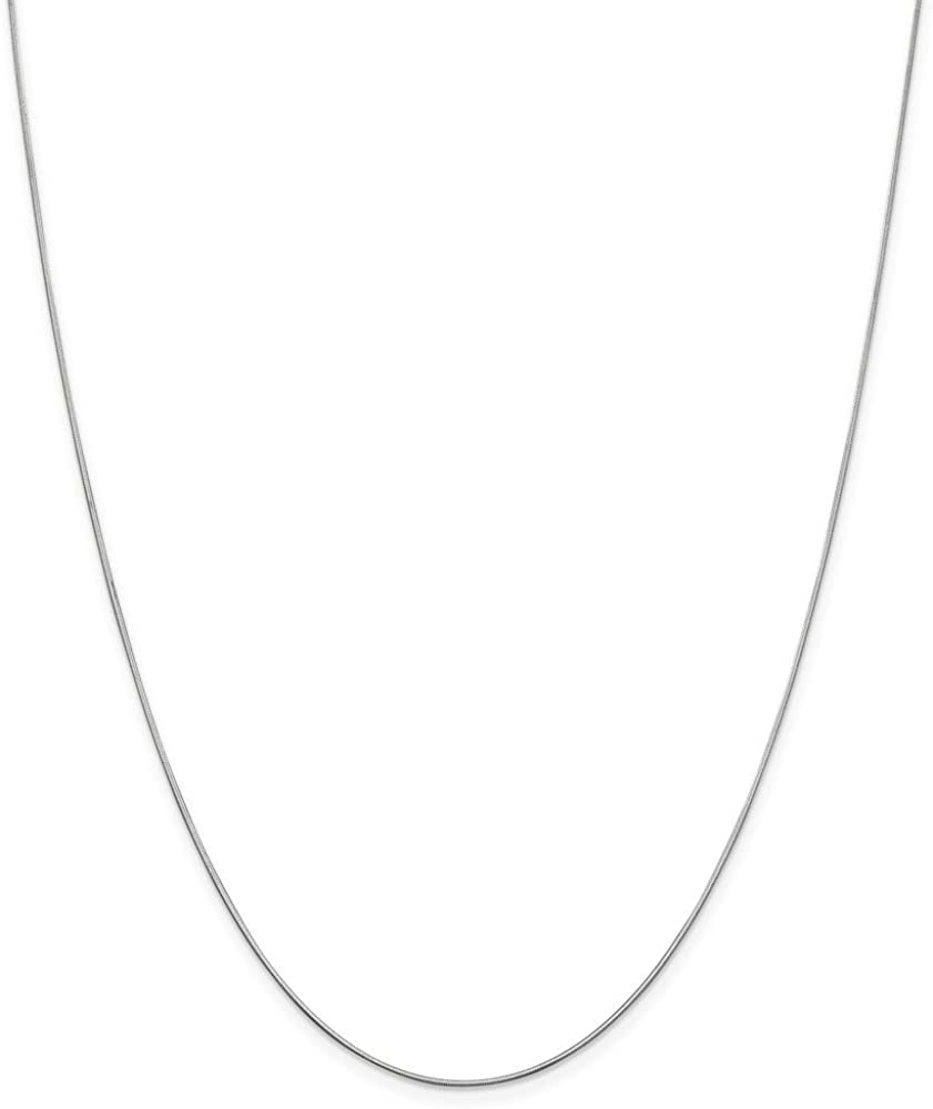 Leslies Real 14kt White Gold .8 mm D//C Octagonal Snake Chain; 16 inch