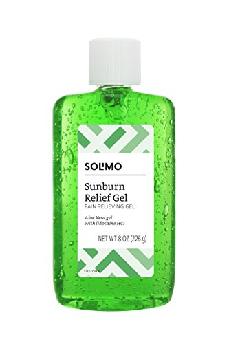 Amazon Brand -  Solimo Sunburn Relief Gel with Aloe Vera, 8 Fluid Ounce ()