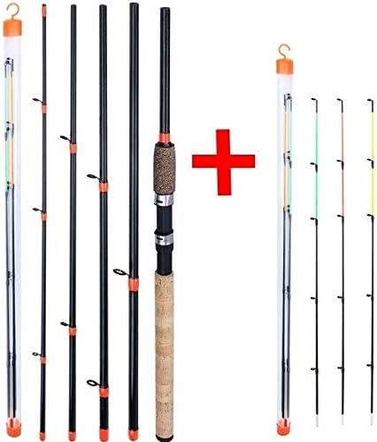Angel Verl/ängerte Griff 6 Abschnitte Angelrute L M H Power Carbon Fiber Travel Rod Angelausr/üstung Angelrute Karpfen