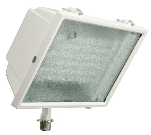 Compact Fluorescent Light Fixtures - Lithonia Lighting OFL2 65F 120 LP WH M4 Standard Flood Light with 65-Watt 6500K Triple Tube Compact Fluorescent Lamp