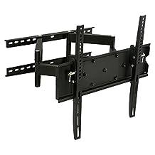Mount-It! TV Wall Mount, Articulating, Corner Bracket for 32  65 LCD/LED/Plasma Flat Panel Screens, VESA 75x75 - 600x400 mm, 154 lb Load Cap, Black (MI-347L)