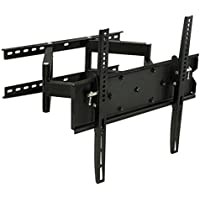 Mount-It! TV Wall Mount, Articulating, Corner Bracket for 32  65 LCD/LED/Plasma Flat Panel Screens, VESA 75x75 - 600x400 mm, 154 lb Load Cap, Black (MI-347L)