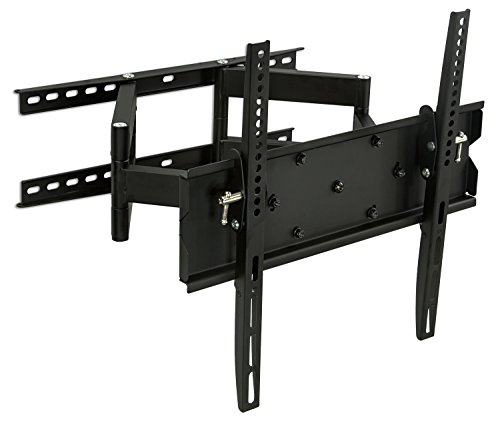 (Mount-It! TV Wall Mount, Articulating, Corner Bracket for 32 65 LCD/LED/Plasma Flat Panel Screens, VESA 75x75-600x400 mm, 154 lb Load Cap, Black (MI-347L))