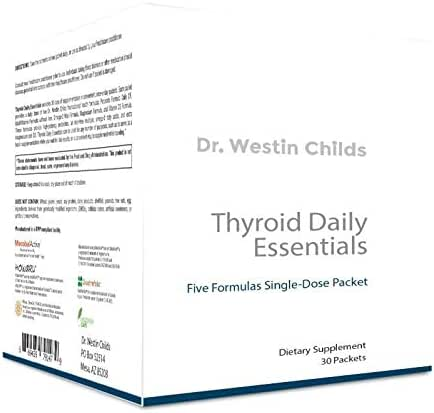 Dr. Westin Childs - Thyroid Daily Essentials - Thyroid Multivitamin with Fish Oil, Probiotics, Vitamin D, Magnesium & More, GMP Certified, Non-GMO, 30 Day Supply