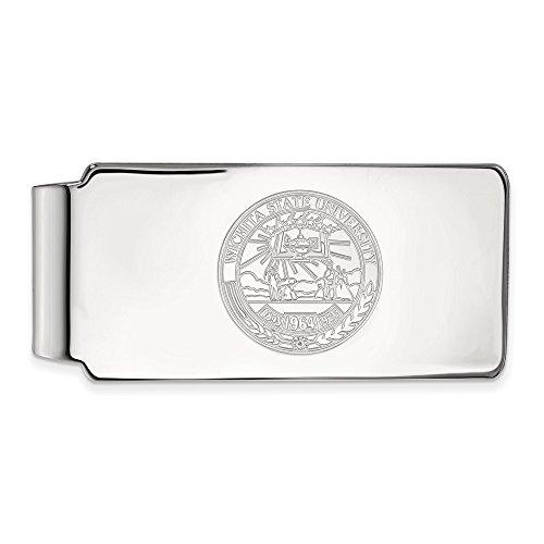 Crest Licensed Clip State Sterling Wichita Money Collegiate WSU Official University Silver LogoArt atPwTf