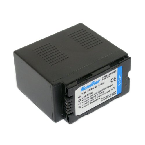 Maximalpower 6000mah Li-ion battery pack for  Panasonic CGR-D54S CGP-D28 CGP-D28A/1B and more, fully decoded w/ 3yr warranty