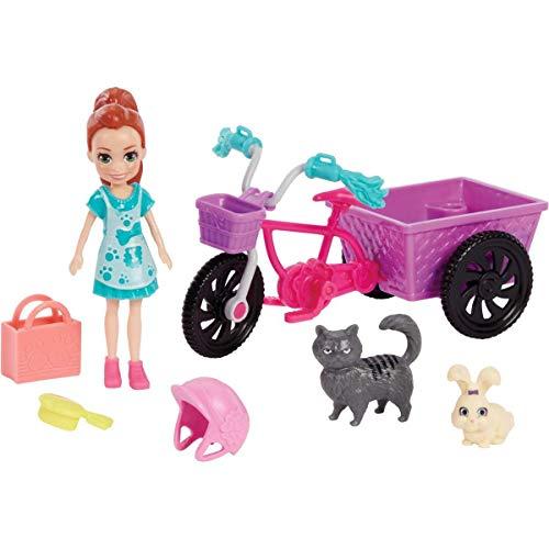 Polly Pocket Bicicleta Aventura com Bichinho Mattel Gfr03 Multicor