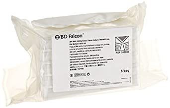 BD 353963 Falcon White/Clear Polystyrene Sterile 384 Well Microtest Plate with Lid, 120 microliter Capacity, Flat Bottom Shape (Case of 50)