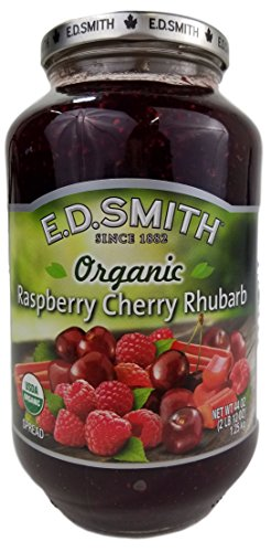 E.D. Smith Organic Rasberry Cherry Rhubarb Spread 44 OZ