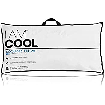 eLuxury I AM Cool Pillow, Standard Size - Coolmax Fabric Wicks Away Moisture for Cooler Sleep - 233-Thread Count Pillow