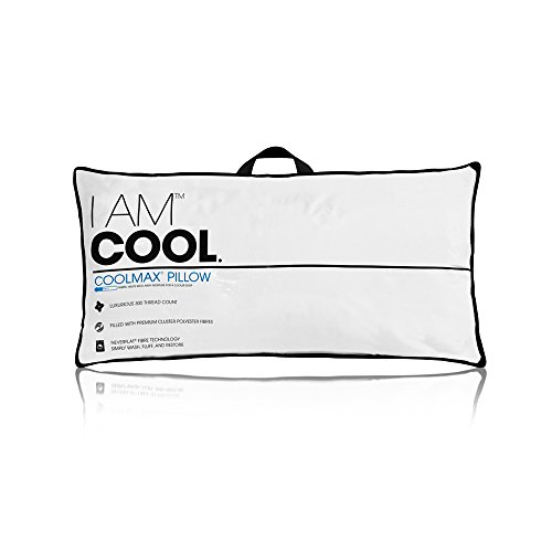 eLuxury I AM Cool Pillow, King Size - Coolmax Fabric Wicks Away Moisture, Ensures Cooler Sleep - 233-Thread Count Pillow