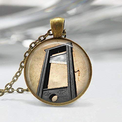 Guillotine Necklace French Revolution Creepy Halloween Art
