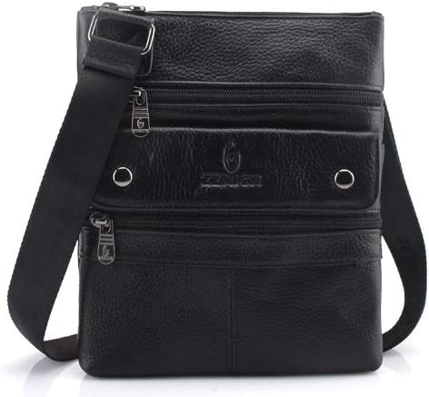CHUNNONG Backpack Shoulder Bag Travel Bag Leather Mens Diagonal Cross-Body Fashion Shoulder Briefcase Color : Brown