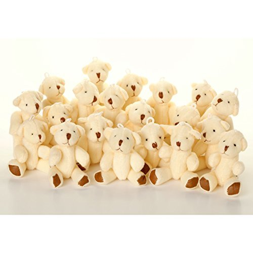 (NEW Cute And Cuddly Little WHITE Teddy Bear X 25 - Gift Present Birthday)