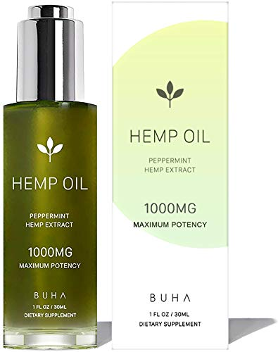 Hemp Oil for Pain & Anxiety Relief - 1000mg - Natural Anti Inflammatory & Joint Support. Improves Sleep Quality & Mood. Grown & Made in The USA. Herbal Drops - - Bio Cartridge 3