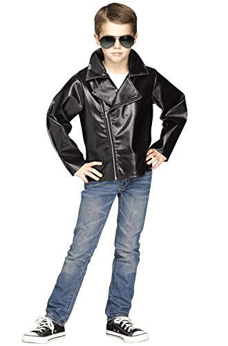 Fun World Rock 'N' Roll 50's Jacket Costume, Medium 8 - 10, Multicolor -