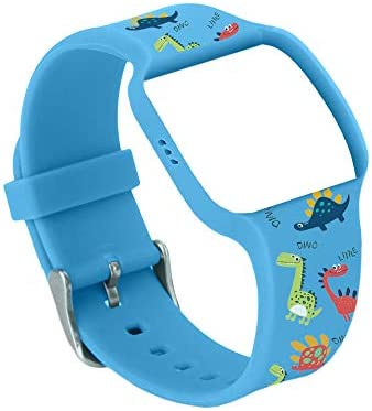 Dinosaur Pattern Blue Colored Watch Band for UseAthena Futures Potty Training Watch